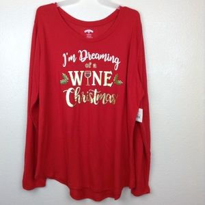 Wine Christmas Sweater.I M Dreaming Of A Wine Christmas Sweater 2x Plus Nwt